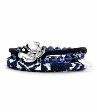 Souvenirs de Pomme Armband Set B Peru Marine