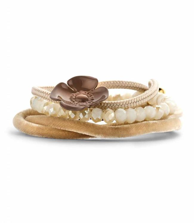 Souvenirs de Pomme Bracelet Set G Taupe