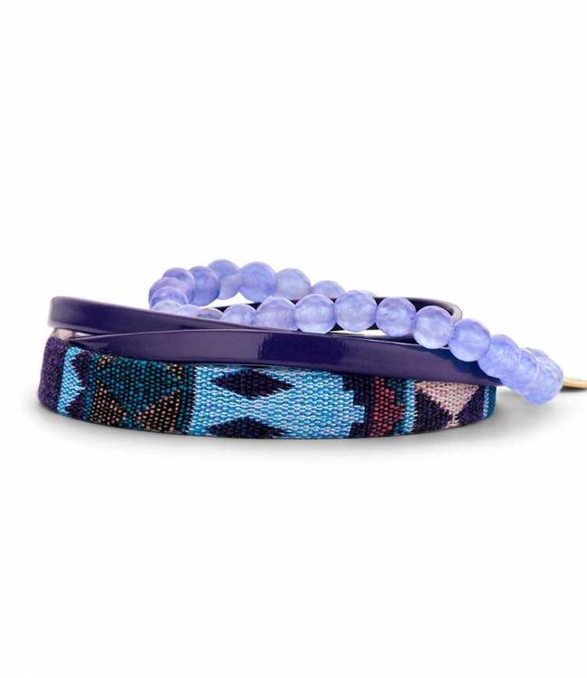 Souvenirs de Pomme Bracelet Set R Violet