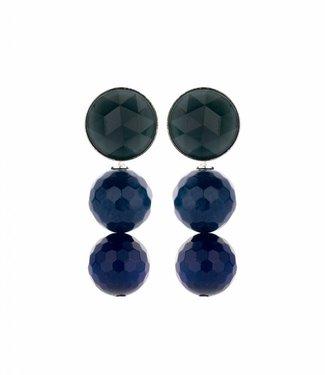 Souvenirs de Pomme Boucles d'oreilles Fifty Navy