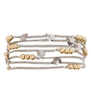 Hipanema Armband SHERAZ Silver/gold