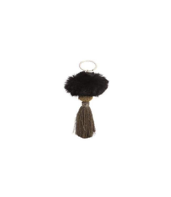 Hipanema Keyrings Fluffy Black