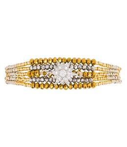 Hipanema Armband ARIZANA Silver/gold