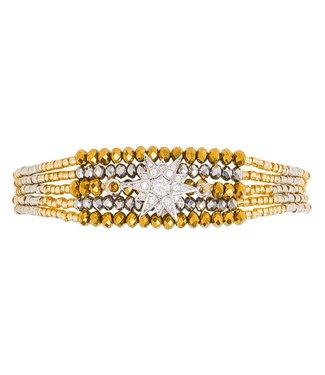 Hipanema Bracelet ARIZANA Silver/gold