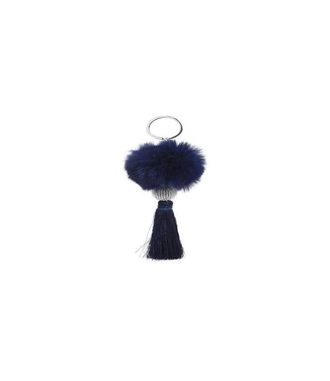 Hipanema Keyrings Fluffy Navy