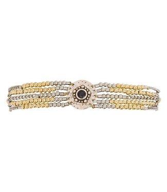 Hipanema Armband Shogun Silver/gold