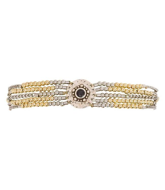 Hipanema Bracelet SHOGUN Silver/gold M