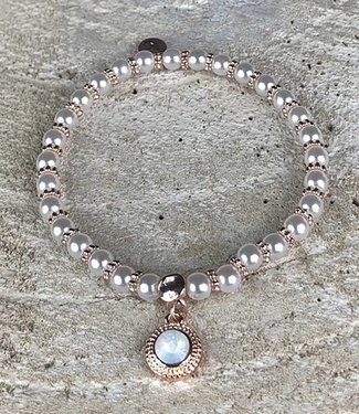 Miracles Armband rosegold with pearls