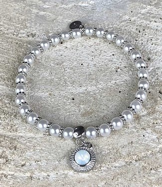 Miracles Armband silver white pearls