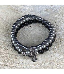 Miracles Armband set of 3 grey black