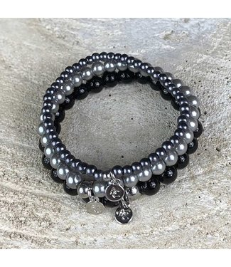 Miracles Bracelet set of 3 grey black