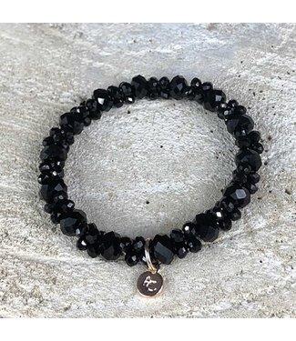 Miracles Armband black small & big stones