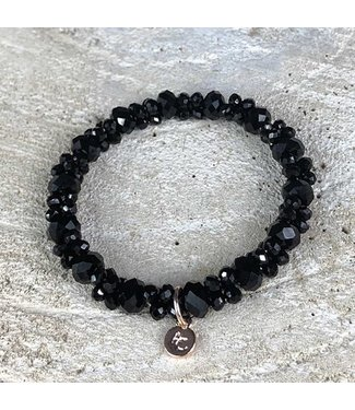 Miracles Bracelet black small & big stones