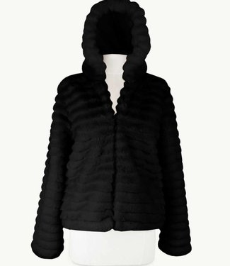 Miracles Coat Lech Black Fur