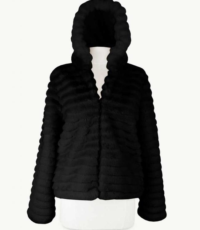Miracles Manteau Black Fur