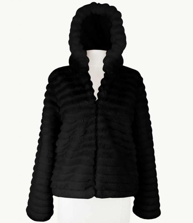 Miracles Manteau Lech Black Fur