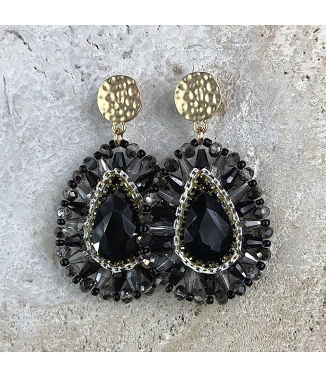 Miracles Boucles d'oreilles Luna black