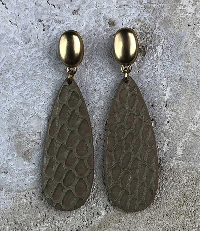 Miracles Boucles d'oreilles Amelie real leather gold