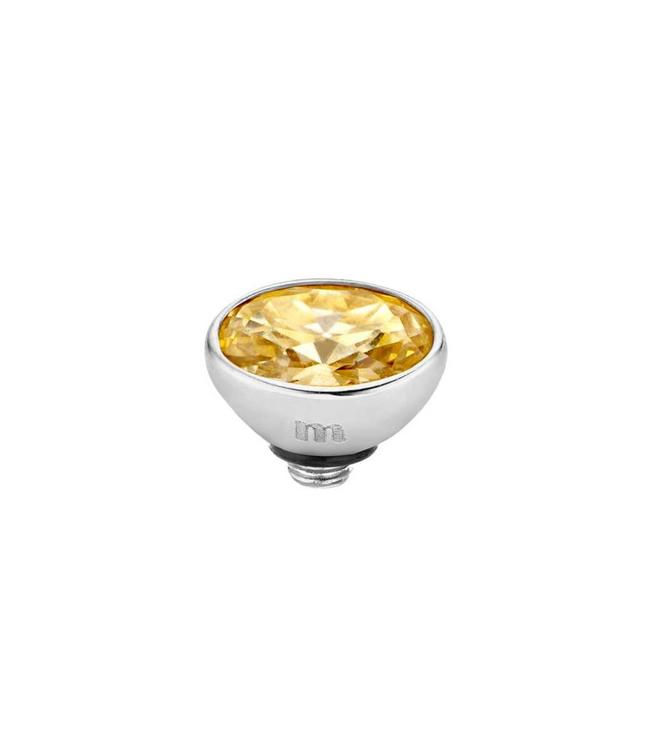 MelanO Twisted cz setting Oval SS, Golden shadow
