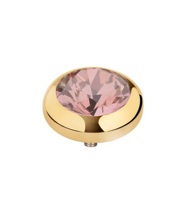MelanO Vivid CZ setting, 07MM G, Blush