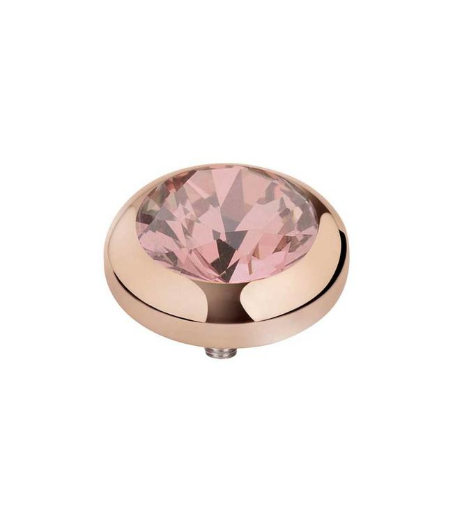 MelanO Vivid CZ setting, 07MM RG, Blush