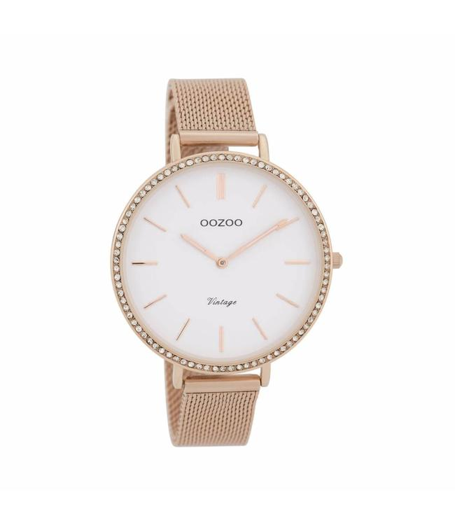 Oozoo Watch Vintage Rosegold White