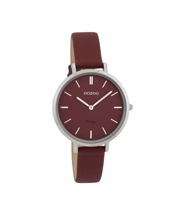Oozoo Watch Vintage Burgundy