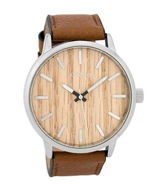 Oozoo Uurwerk Timepieces Cognac Pine