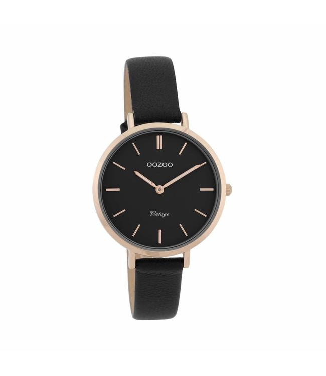 Oozoo Watch Vintage Black