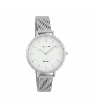 Oozoo Watch Vintage Silver/White