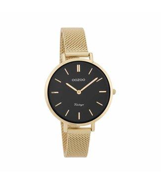 Oozoo Watch Vintage Goud/Zwart