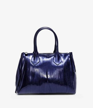 Gum Handbag Laminated Fringe Midnight