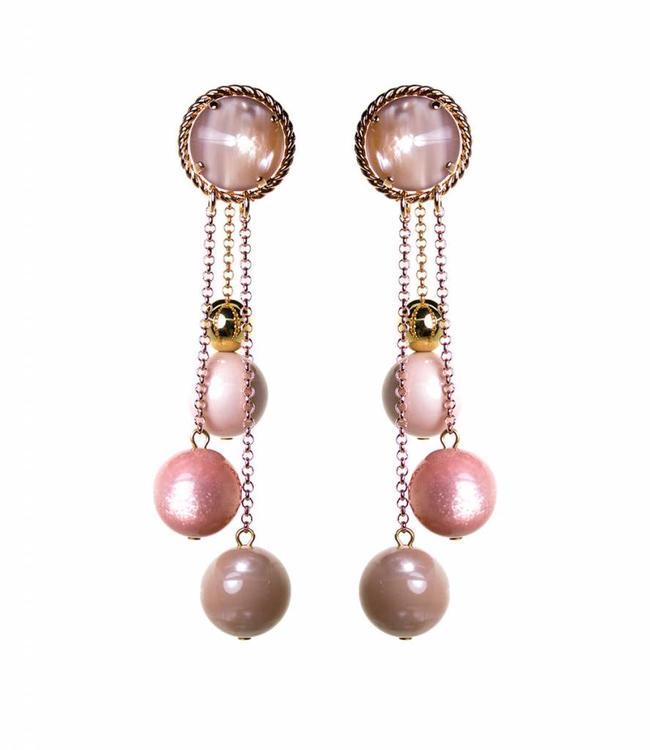 Paviè Boucles d'oreilles Pioggia Pink