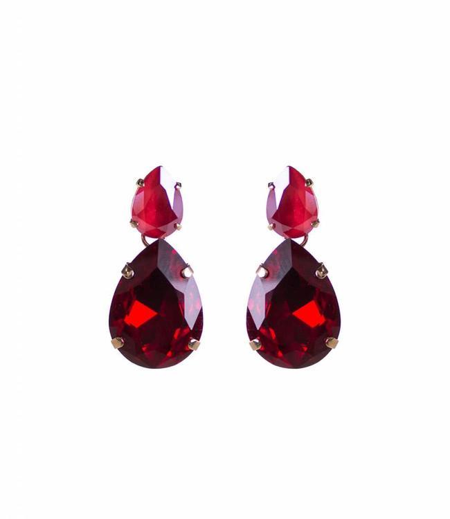 Paviè Boucles d'oreilles Tutti Red