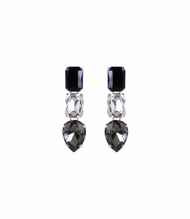 Paviè Earring Cristallo black