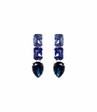 Paviè Oorbel Cristallo blue
