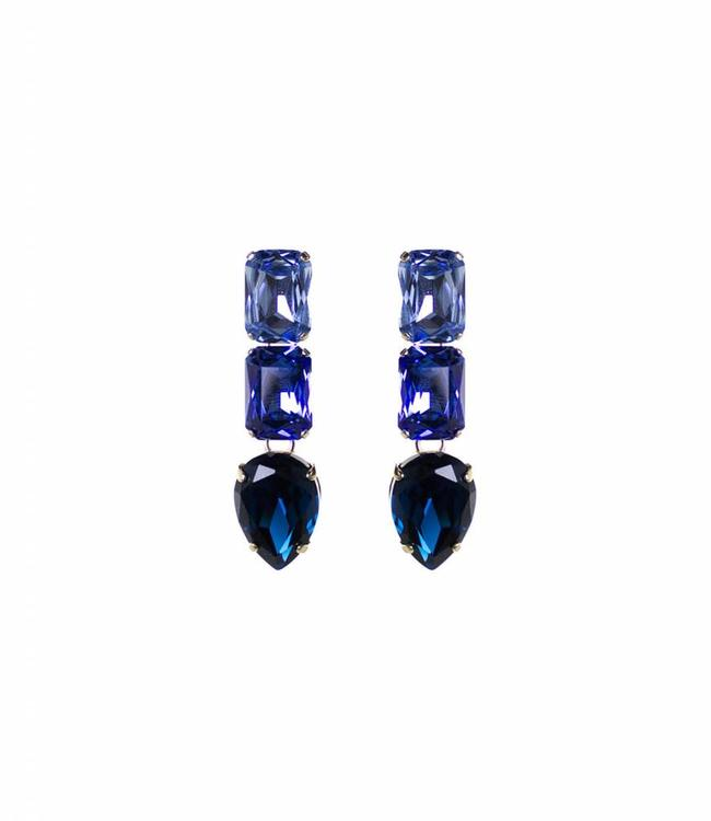 Paviè Boucles d'oreilles Cristallo blue