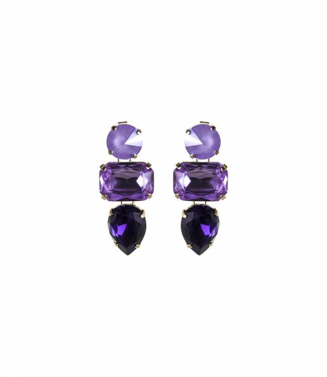 Paviè Boucles d'oreilles Anastasi Purple