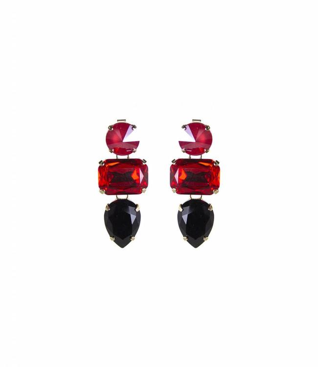 Paviè Earring Anastasi Red