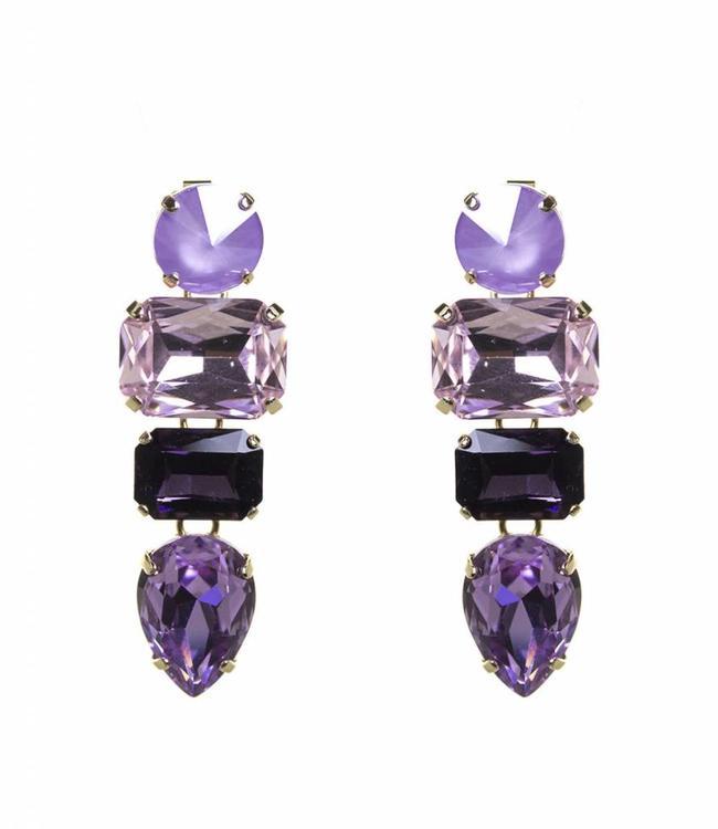 Paviè Boucles d'oreilles Ana Purple