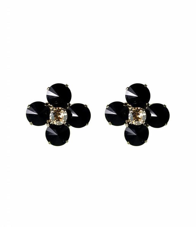 Paviè Earring Fiore Black