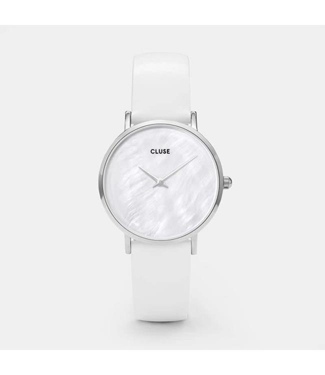 Cluse Uurwerk Minuit La Perle Silver White