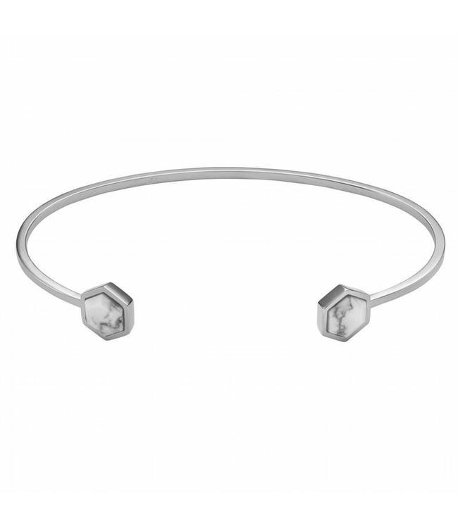 Cluse Bracelet Idylle Silver Marble