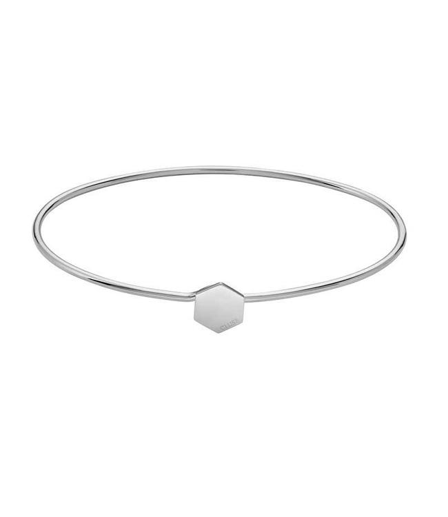 Cluse Bracelet Silver Bangle Hexagon