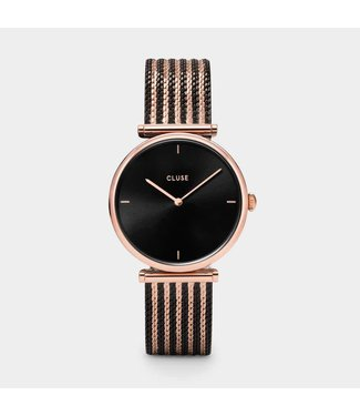 Cluse Watch Triomphe Mesh Bicolour Rose Gold Black