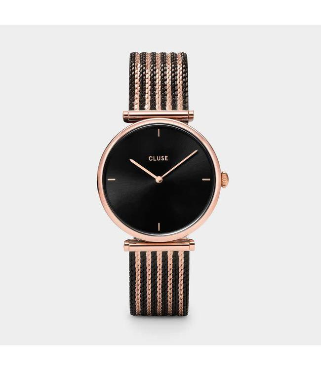 Cluse Montre Triomphe Mesh Bicolour Rose Gold Black