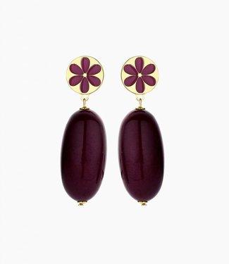Souvenirs de Pomme Earring Yannick Framboise