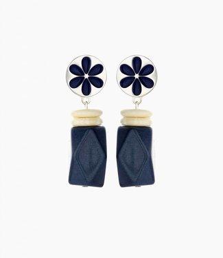 Souvenirs de Pomme Boucles d'oreilles Yannick Navy