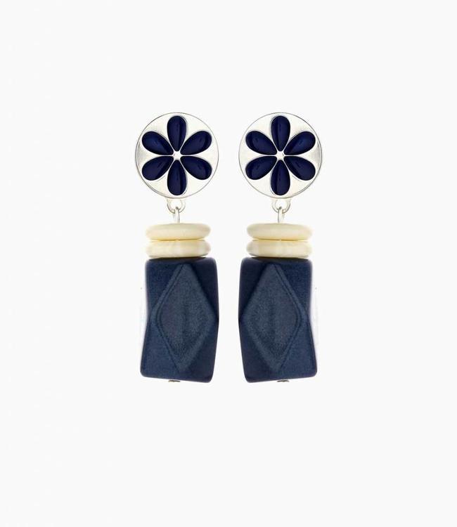 Souvenirs de Pomme Earring Yannick Navy