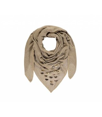 Passigatti Shawl Embroidery Taupe Melange